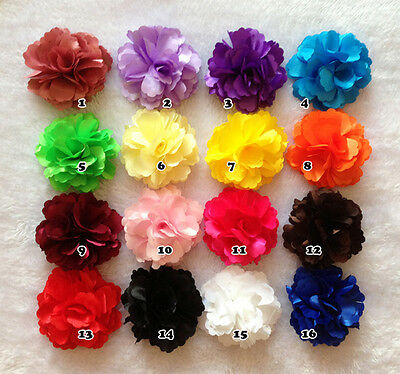 DIY Large Peony Satin Flower Embellishment Headband Handmade Craft