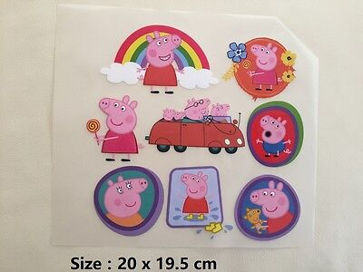 LOT DIY Peppa Pig Decal Patch - Hot Iron-on Transfer