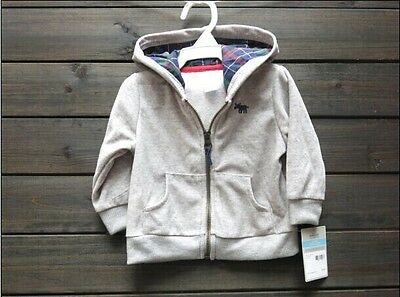 NEW Baby Kids Boy Carter's Zip Hoodie Jacket, Size 6m, light grey