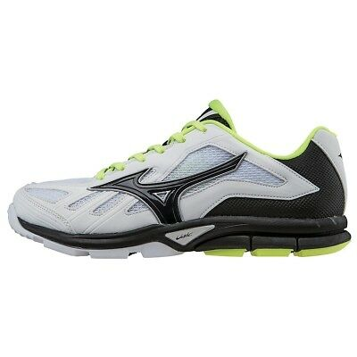 (5 M US, White/Black) - Mizuno Women's Players Training Shoe. Free Shipping