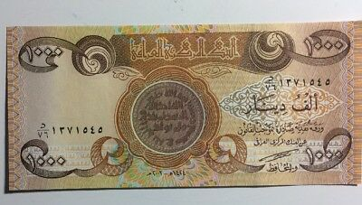 Iraq Dinar 1000 Banknote Middle East