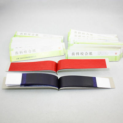 Practical Dental Articulating Paper Soft Thin Strips Red/ Blue 10 Sheet *20 Book