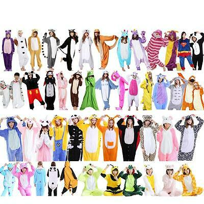 Kids & Adult Pajamas Kigurumi Cosplay Costume Animal Onesi Sleepwear Halloween
