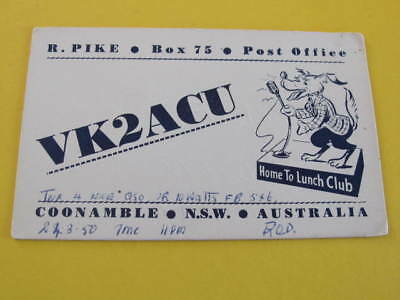 QSL Radio Card Coonable NSW Australia