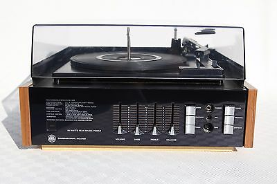 AWA BSR Precision Turntable ST14 record player plus 2 Speakers - Vintage 1970's