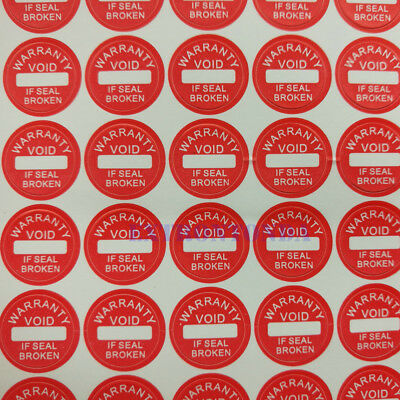 Warranty Void if Seal Broken Tamper Proof Security Stickers labels 10mm Red