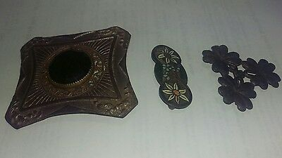 Antique belt buckle x 3 mix