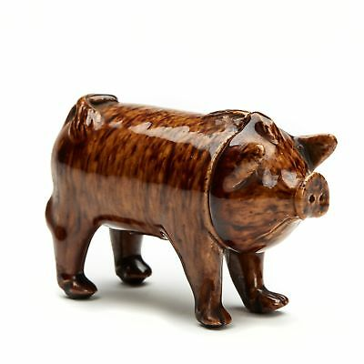 RARE RYE POTTERY SUSSEX PIG DRINKING VESSEL c.1870