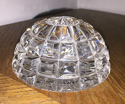 Genuine WATERFORD NOCTURNE Lead Cut Crystal PAPER WEIGHT heavy *EXCELLENT*