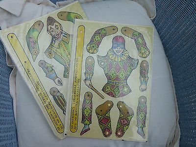 2 Jumping Jacks to assemble. Harlequin & Pantaloon. UNUSED