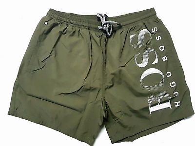 HUGO BOSS Mens Octopus Swim Shorts Khaki - M