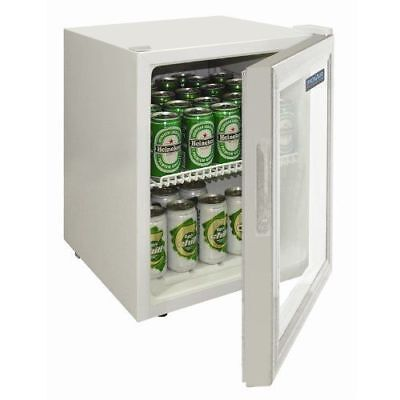 Polar White Compact Counter Mini Bar Fridge 46Ltr DM071 Refrigerator