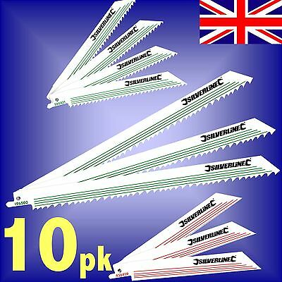 10 RECIPROCATING RECIP SAW BLADES wood metal pruning root tree sabre alligator