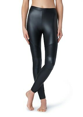 Calzedonia Ladies Leather Look Biker Leggings MOD 0776 New with Tag Size is Smal