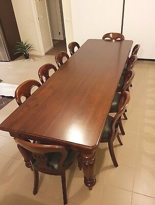 Antique Reproduction Victorian Styled rectangular Dining Table with Chairs