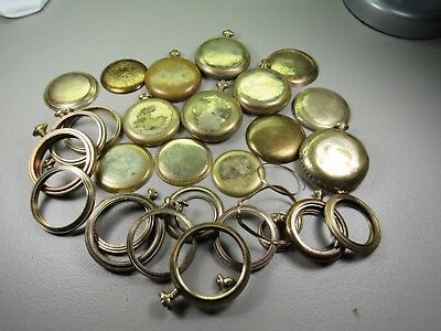 C-9: 540 grams of mixed gold filled watch cases, case parts, sever wear on items
