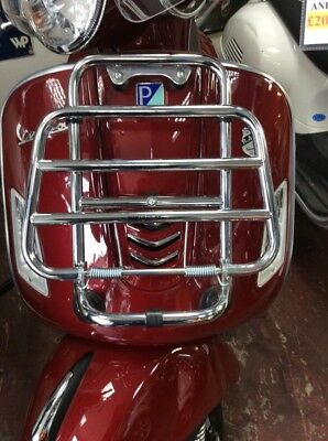 Gen Piaggio Vespa Gts Scooter Front Chrome Flip Carrier Rack Luggage