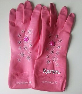 Woman's and mens! personalised washing up gloves, great gift idea!