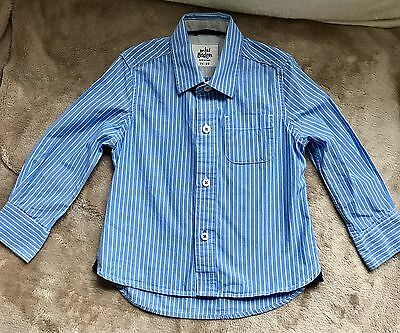 Lovely Mini Boden Blue And White Striped Shirt Age 18-24 Months