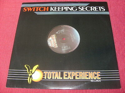 """Switch:   Keeping Secrets  12""""   1984  Total Experience   EX+"""