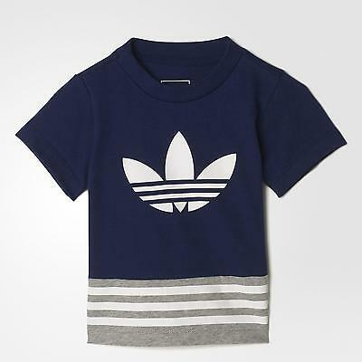 Adidas T-Shirt Fl Infant - Blue/grey/white - S95966