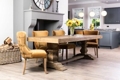 Double Pedestal Dining Table The Castle Table In Reclaimed Pine