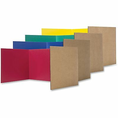"""Flipside Products Study Carrel Color Corrugated 12""""x48' 24/PK Ast 60045"""
