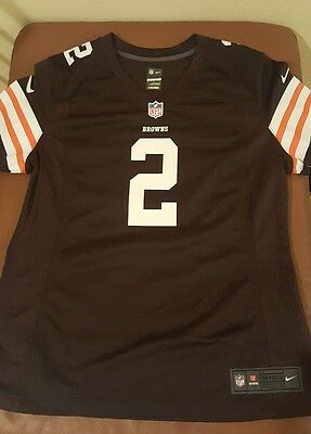 Cleveland Browns Jersey Johnny Manziel Historic Logo Nike Women's Limited