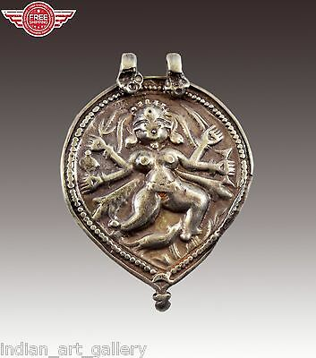 Vintage Silver Indian Amulet Pendant Tribal Ornament nice collectible. i63-6