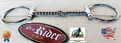 Stainless Steel Snaffle Horse Bit Twisted Wire 13cm Mouth Equine Tack 35514B