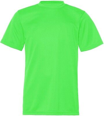 (Medium, Lime) - C2 Sport Youth Athletic Antimicrobial Crewneck T-Shirt
