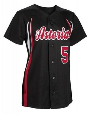 (Small, White/Scarlet/Scarlet) - Girl's Changeup Softball Jersey. Teamwork