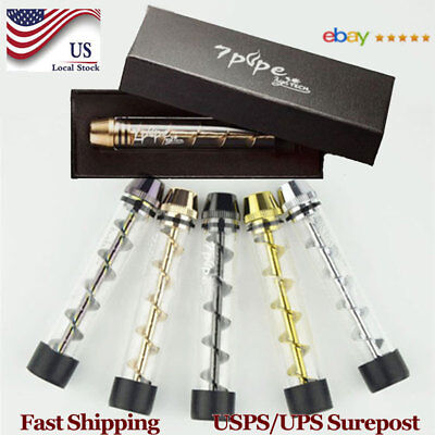 Quality Tank 510 Tobacco Pipe Smoking Cigarette Cigar Glass Pipes Holder 5Colors