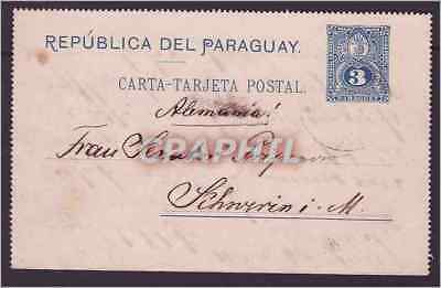 Paraguay Stationery 1892 to Germany