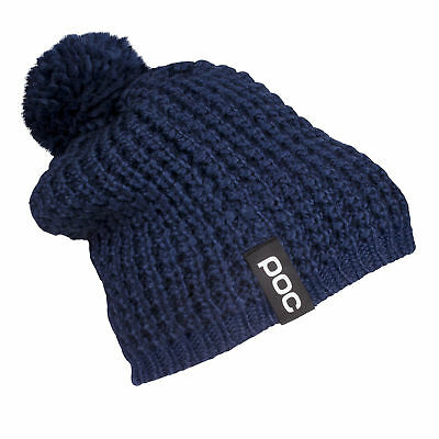 POC Colour Merino Wool Thick Knit Beanie Fleece Lined Hat One Size Dubnium Blue