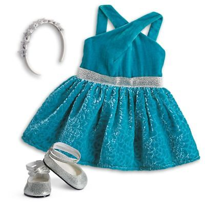 American Girl GABRIELA'S CELEBRATION DRESS OUTFIT Gabriela COMPLETE Shoes Headba