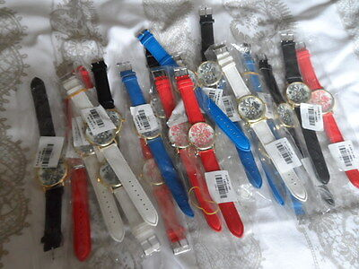 ladies patterned face watches, joblot of 22,will need batteries,cheap on ebay.