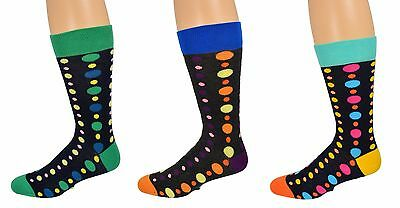 Sierra Socks Men's Dress Casual 3 Pair Pack Cotton Crew Pattern Socks M8005U