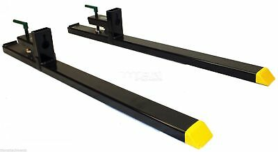 "Titan 43"" HD Clamp on Pallet Forks 4000 lb Capacity - USED"