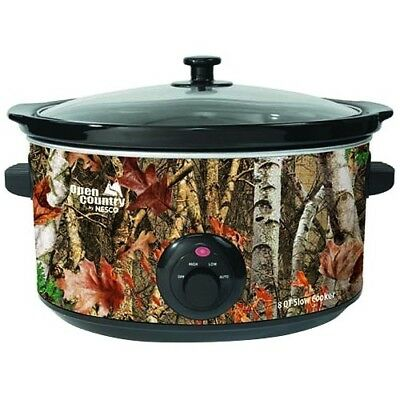 NEW The Metal Ware SC-8017 8 Qt Slow Cooker Woodland Birch Design OC 8qt
