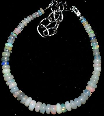 15 CTS 2.5 to 5.5 mm 5.3 Inches  Natural Ethiopian Opal Beads Bracelet a019