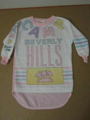 Camp Beverly Hills baby one piece dress shirt sweater 80s nos deadstock vtg