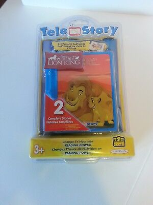 "Tele Story Disney's ""the Lion King"" Storybook Cartridge 2 Complete Stories New A"