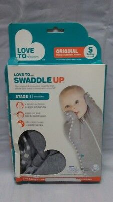 SW422 SET OF 3 Open Box-Love To Dream Swaddle Up Stage 1 Small-Gray