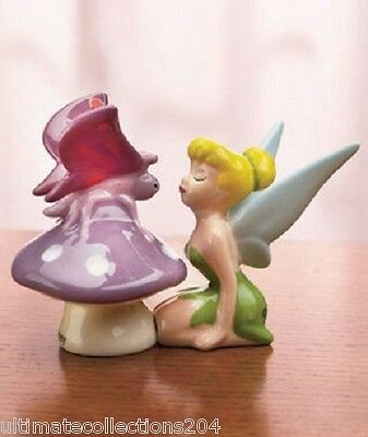 DISNEY TINKER BELL SALT & PEPPER SHAKER SHAKERS Licensed Magnetic Collectible