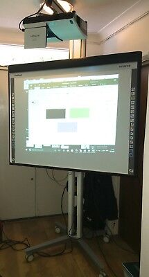 Hitachi StarBoard Interactive Whiteboard FX-duo-63, projector, Electric Stand