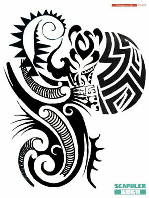A4+ LEFT TOTEMS SCAPULER CHEST SHOULDER ARM HALF SLEEVE Temporary Tattoo