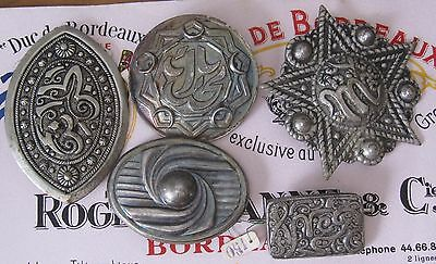 Lot Vintage islamic jewelry silver plated brooch NOS New from old stock with tag