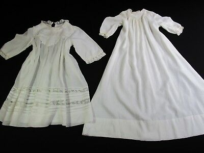 Lot Of 2 Antique Child's Christening Gowns French Lace, Embroidery, Cutters?
