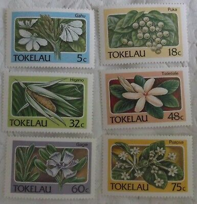 Tokelau Stamp  138-43 MNH Flower, Plant Topical Cat $6.60